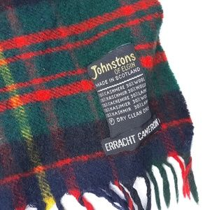 Johnstons of Elgin Multicolor Plaid Scarf